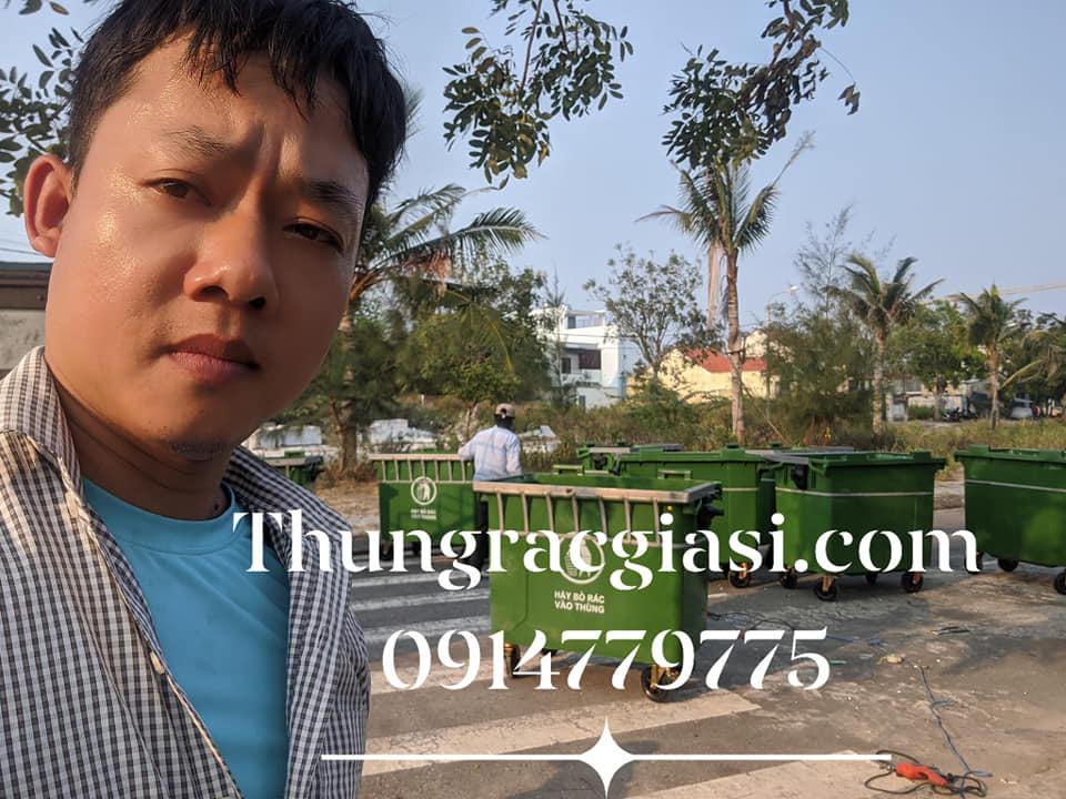 Thùng rác Gia Huy cấp cho Chung cư Đà Nẵng
