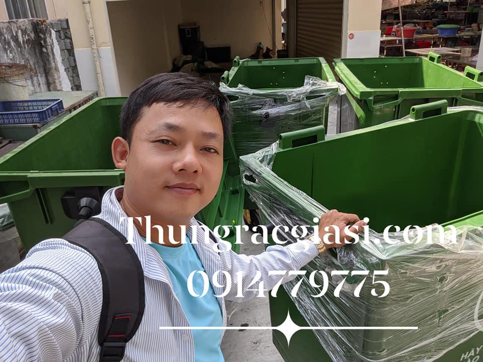 Thùng rác Gia Huy cấp chợ