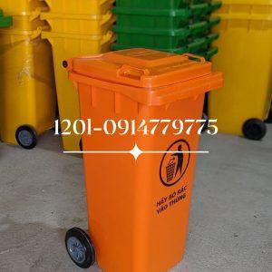 thùng rác 120 lít cam
